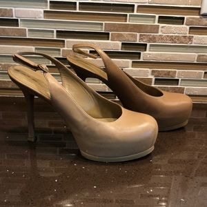 Yves Saint Laurent Nude platform Heels